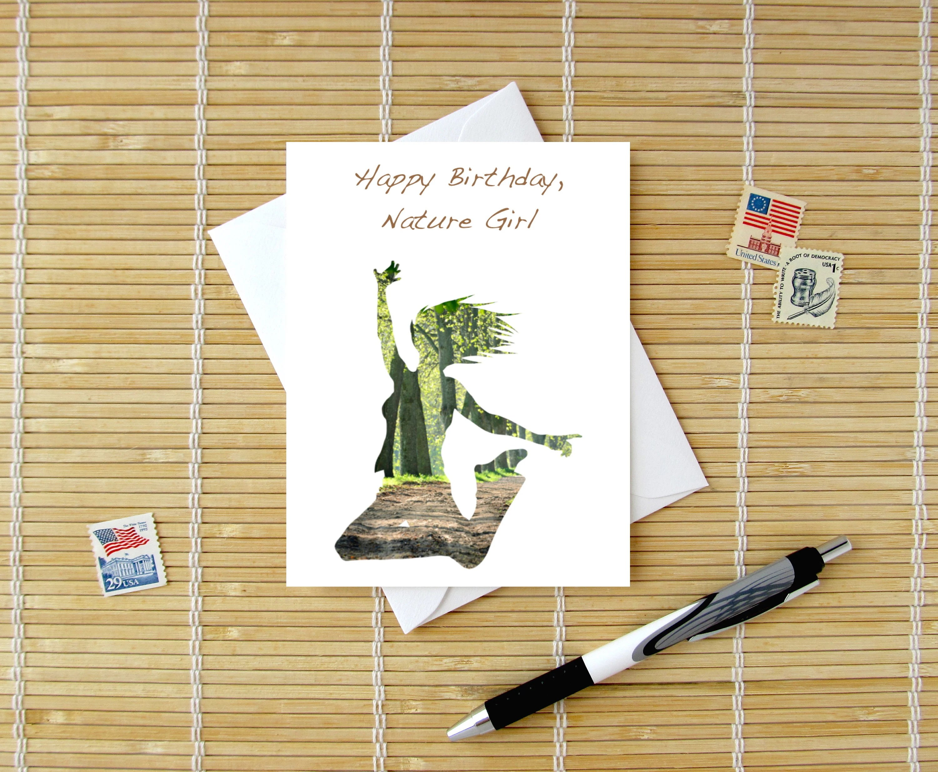 Happy Birthday Nature Girl Nature Lover Birthday Card For Etsy