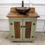 Rustic Farmhouse Vanity 30 Sage Green Bathroom Vanity Bathroom Vanity With Vessel Sink Farmhouse Vanity With Sink Copper Sink