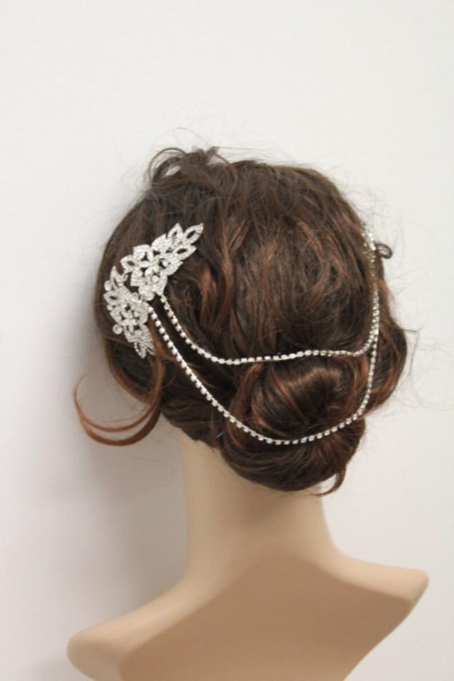 hair chain wedding hair accessories crystal hair chain boho hair piece bohemian hair comb hair vine bridal hair bridal hair chain wedding