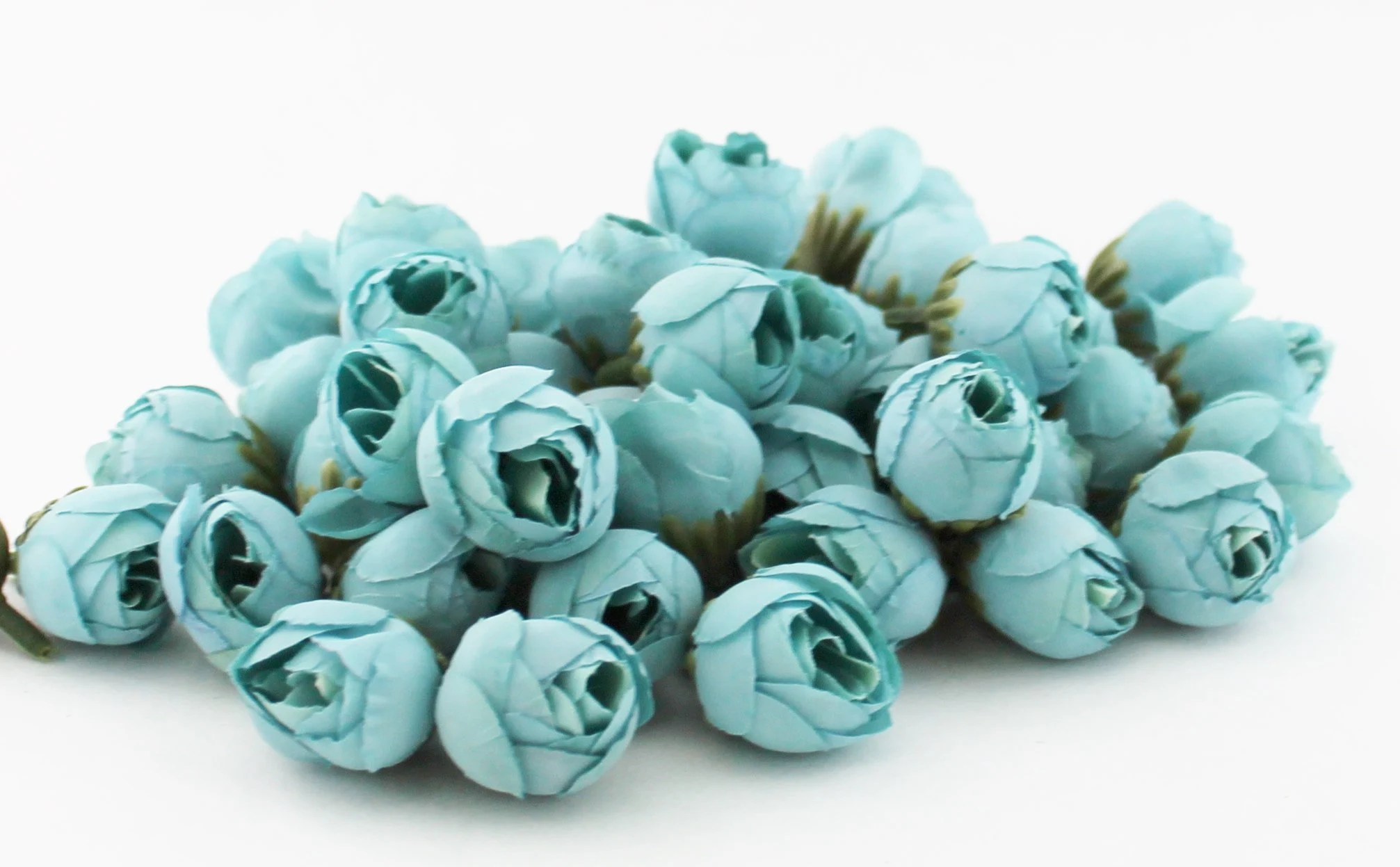 Teal flowers   Etsy Small Teal Flower Buds   Flower Crown   Wedding   Millinery Flowers    Corsage   Boutonniere   Artificial Peony Buds   The Blue Hutch PB34