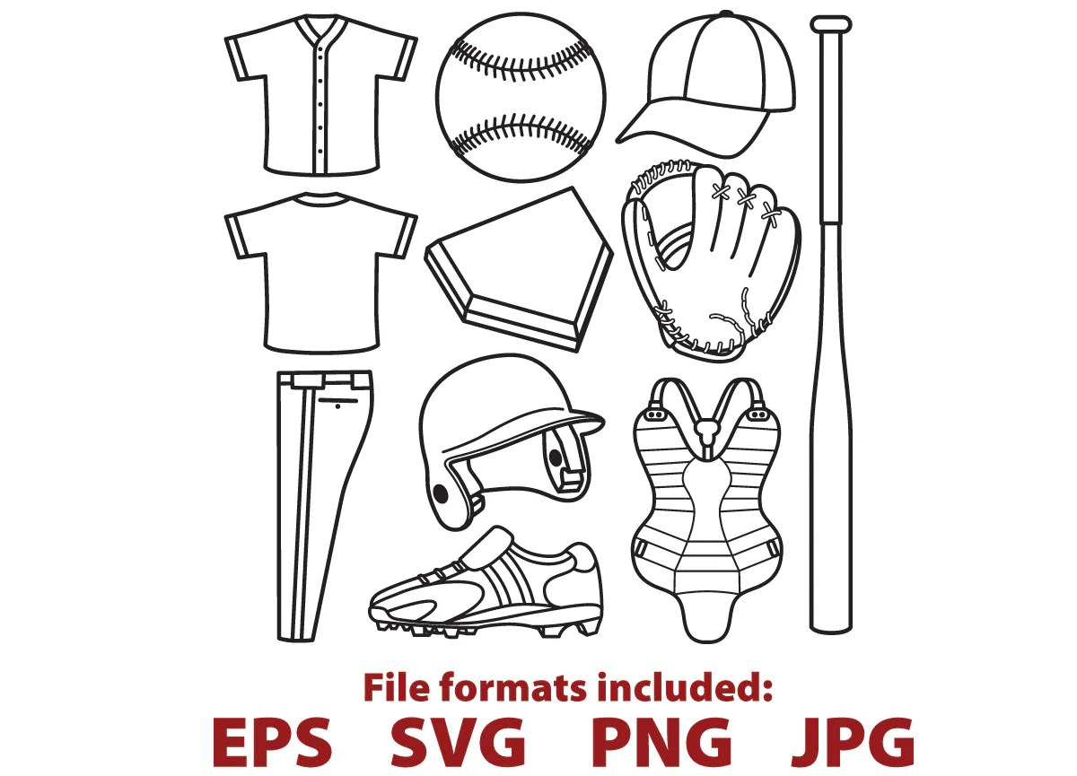 Baseball Clipart Baseball Digital Vector Svg Clip Art