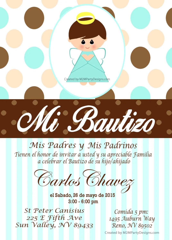 Editar Tarjeta De Bautizo