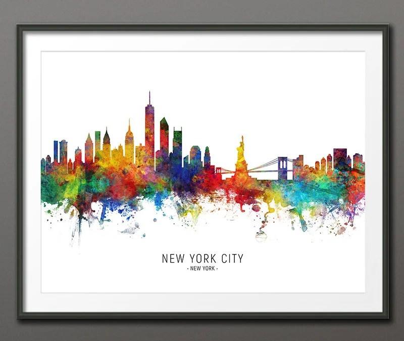 new york skyline art etsy