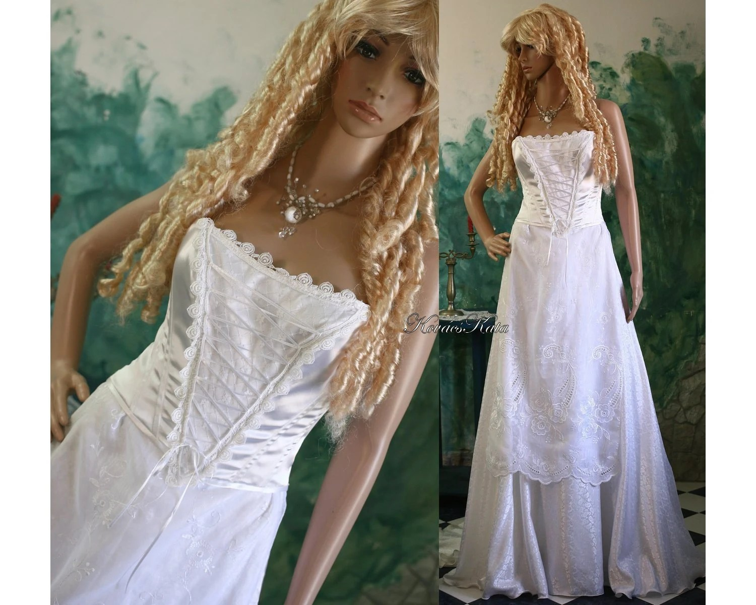 Hungarian Renaissance Inspired Fantasy Wedding Gown Viola