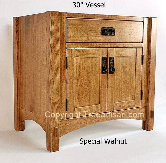 vanity bathroom sink cabinet quarter sawn oak craftsman mission 33 color choice