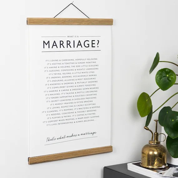 Was Ist Eine Ehe Gedicht Hochzeitsgeschenk Etsy