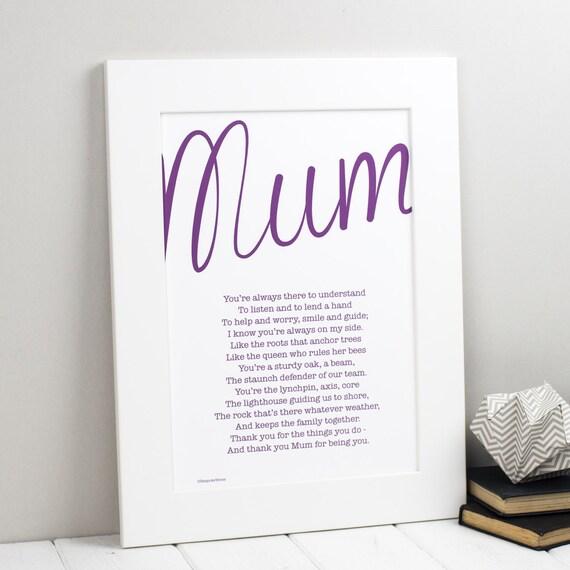 Mama Gedicht Mama Druck Personalisierte Druck Fur Mama Etsy