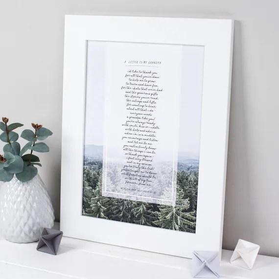 Opa Gedicht Opa Gedicht Geschenk Fur Opa Personalisierte Etsy