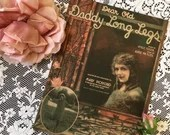 Vintage Antique 1919 Dear Old Daddy Long Legs Mary Pickford Photos E E Walton Art Deco Cover Art 1910s By Albert Von Tilzer Neville Fleeson