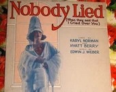 Vintage 1922 Sheet Music Nobody Lied When They Said That I Cried Over You 1920s Art Deco Cover Art Karyl Norman