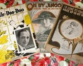 Vintage Lot of 12 Pieces Sheet Music Bundle Art Deco Collection 1910s 1920s