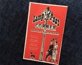 Antique Vintage Color Art Postcard LAMP POST CORNER Bar & Restaurant 1930s Colorful Gaslight Era Bar Gay 90's Massaglia Hotels