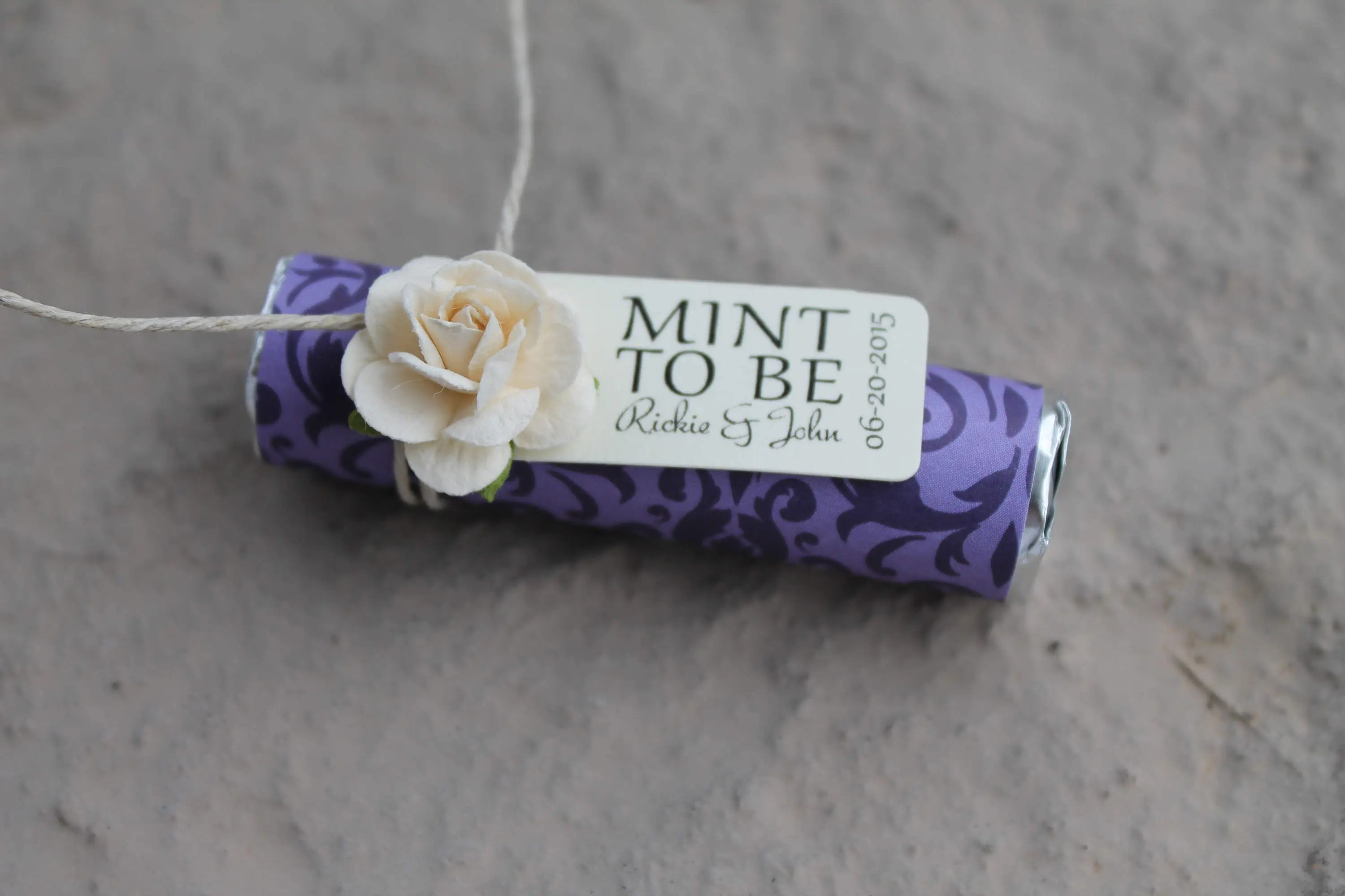 Purple Wedding Favors Mint To Be Wedding Favors With