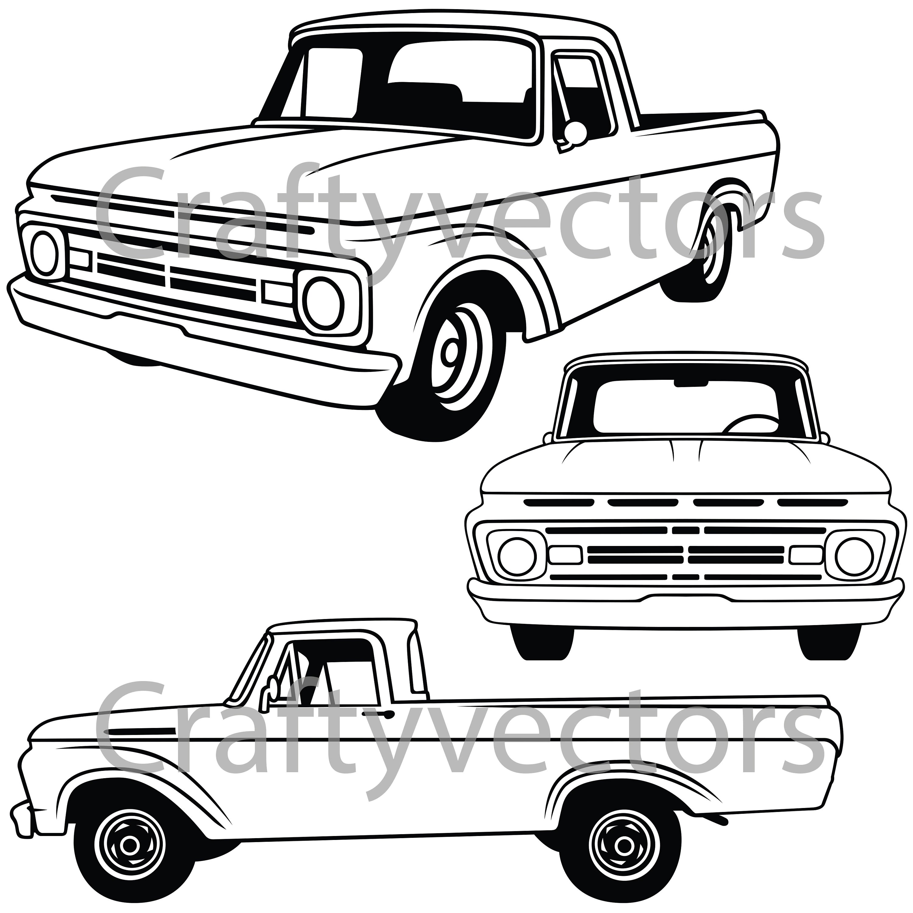 Ford F100 Vector