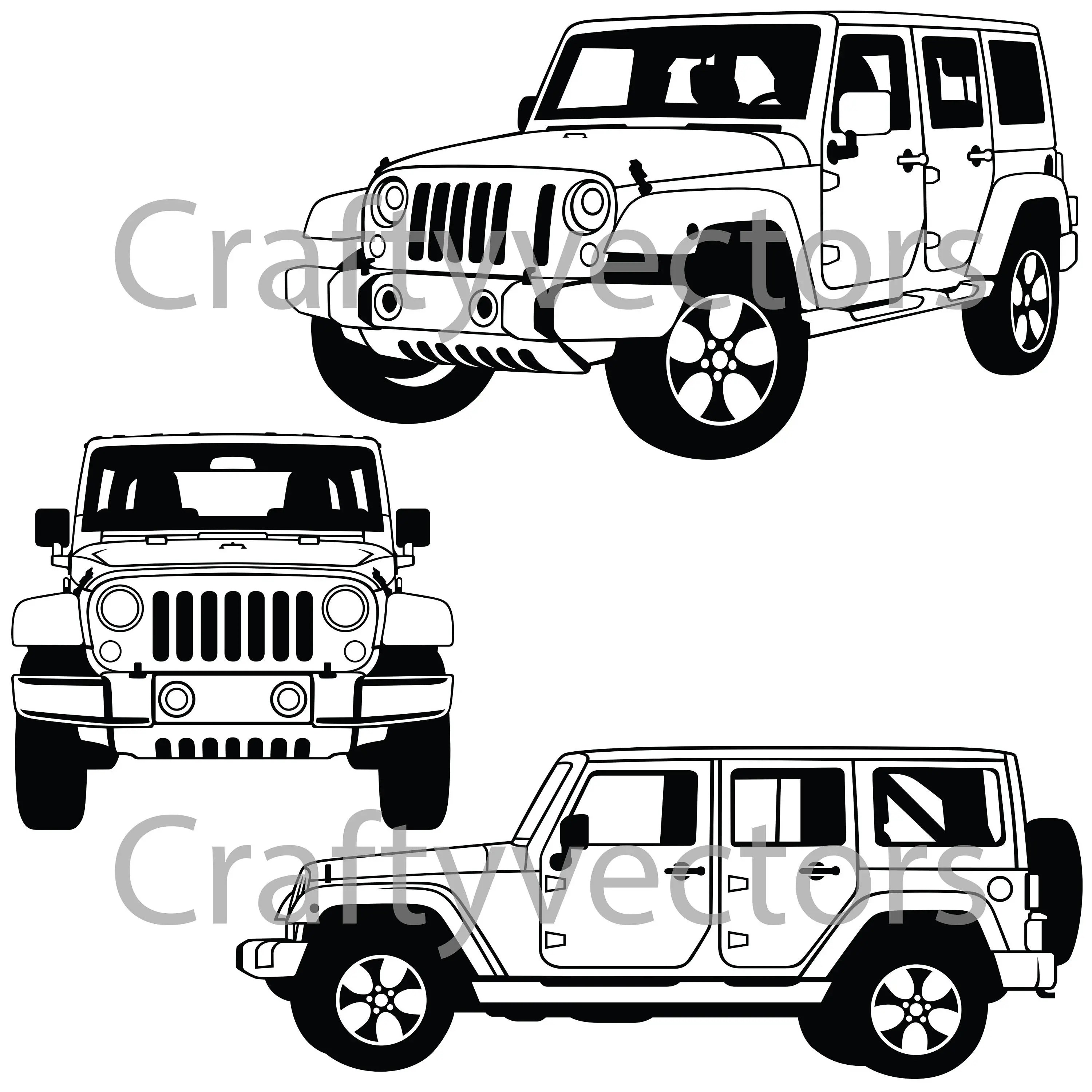 Jeep Wrangler Sahara Vector File