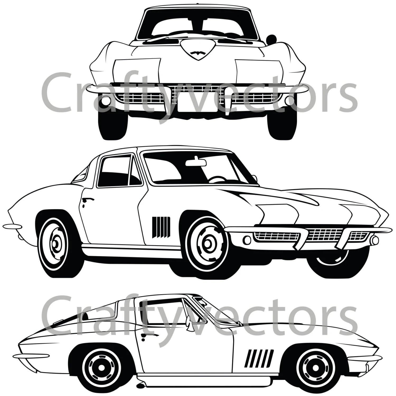 Corvette Stingray Vector File