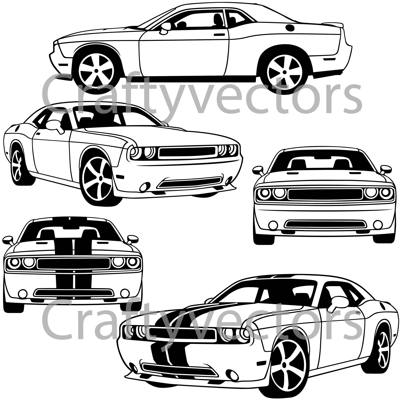 Dodge Challenger Vector File