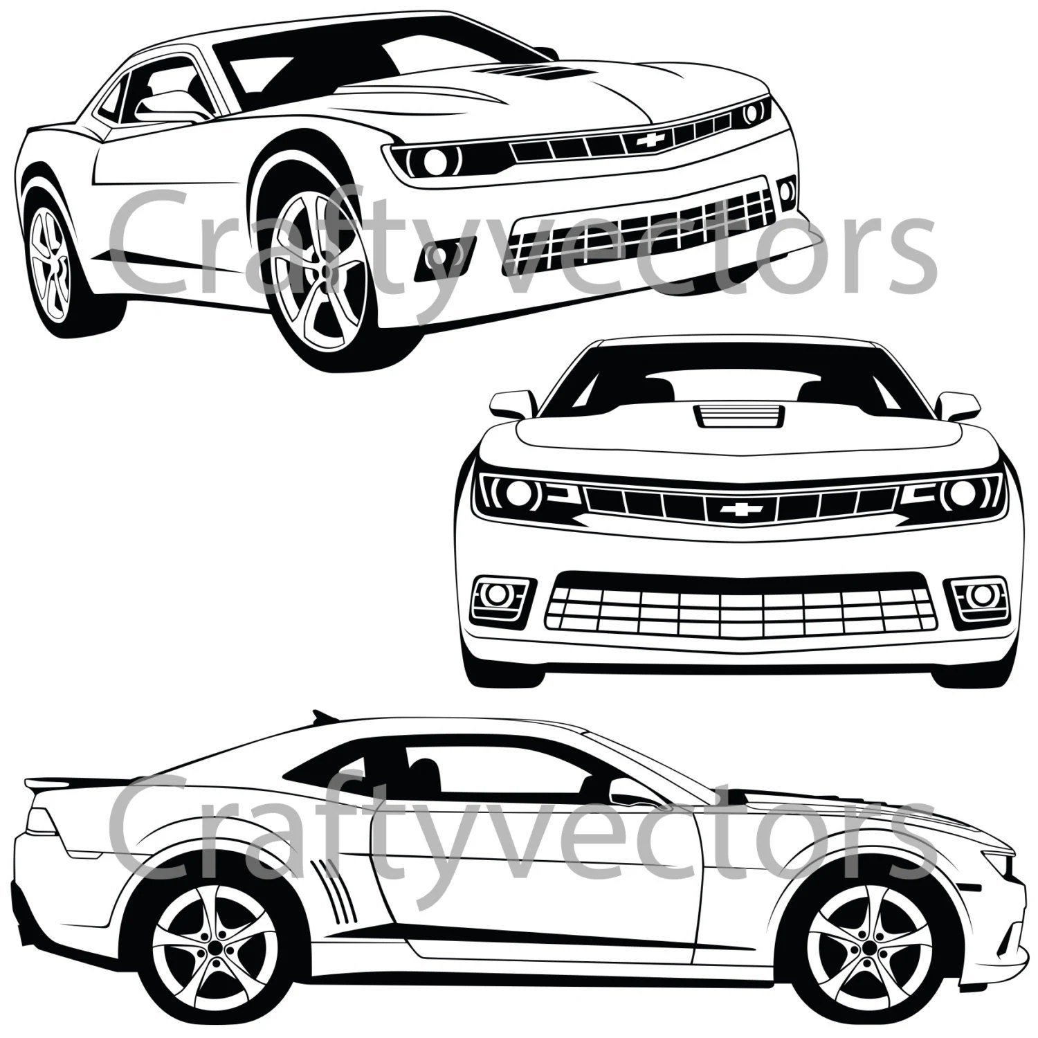 Chevrolet Camaro Vector File