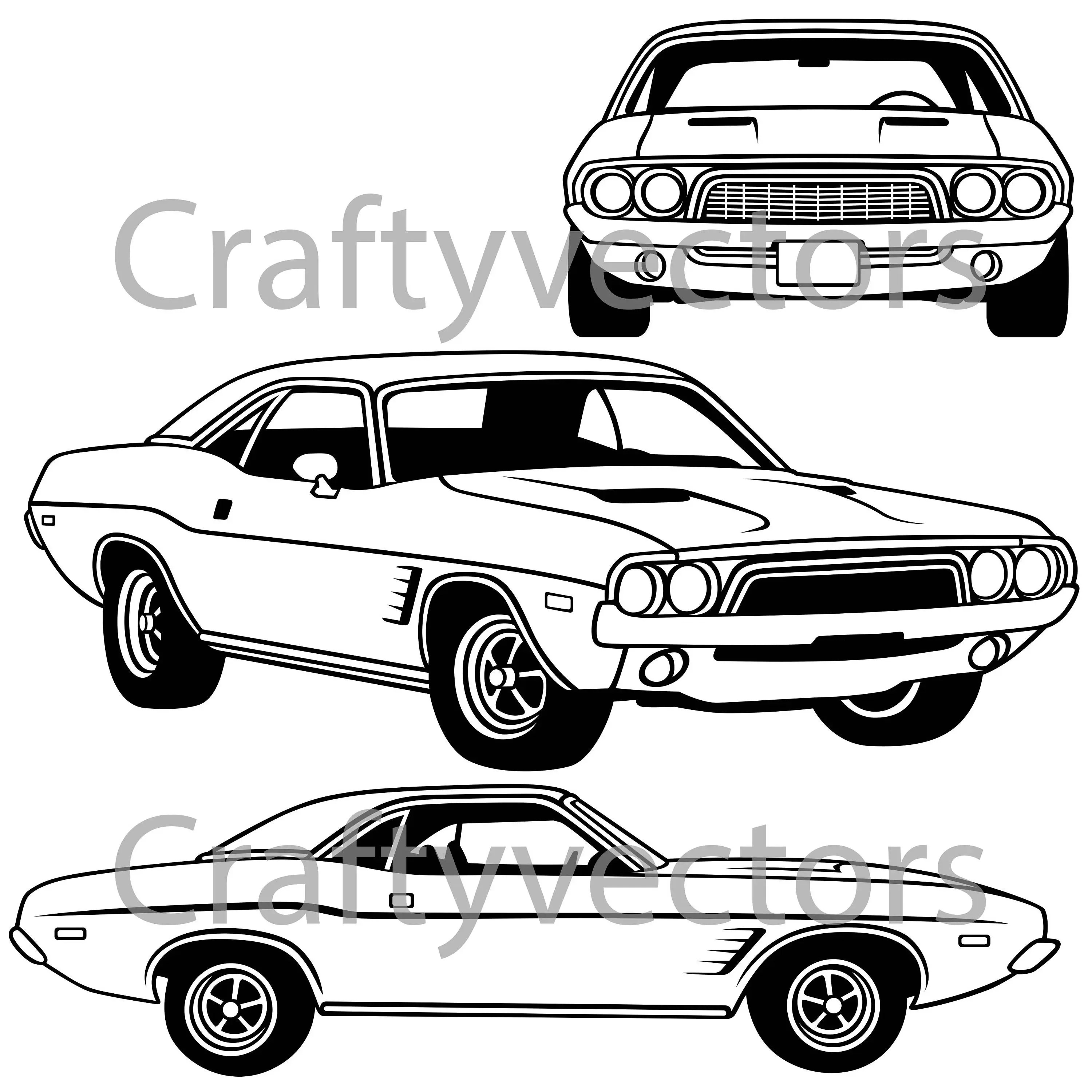 Dodge Challenger First Generation Vector File