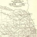 1927 Rare Size Antique Nebraska State Map Vintage Map Of Nebraska Poster Size Nebraska Wall Art Anniversary Gift For Birthday Wedding 7149