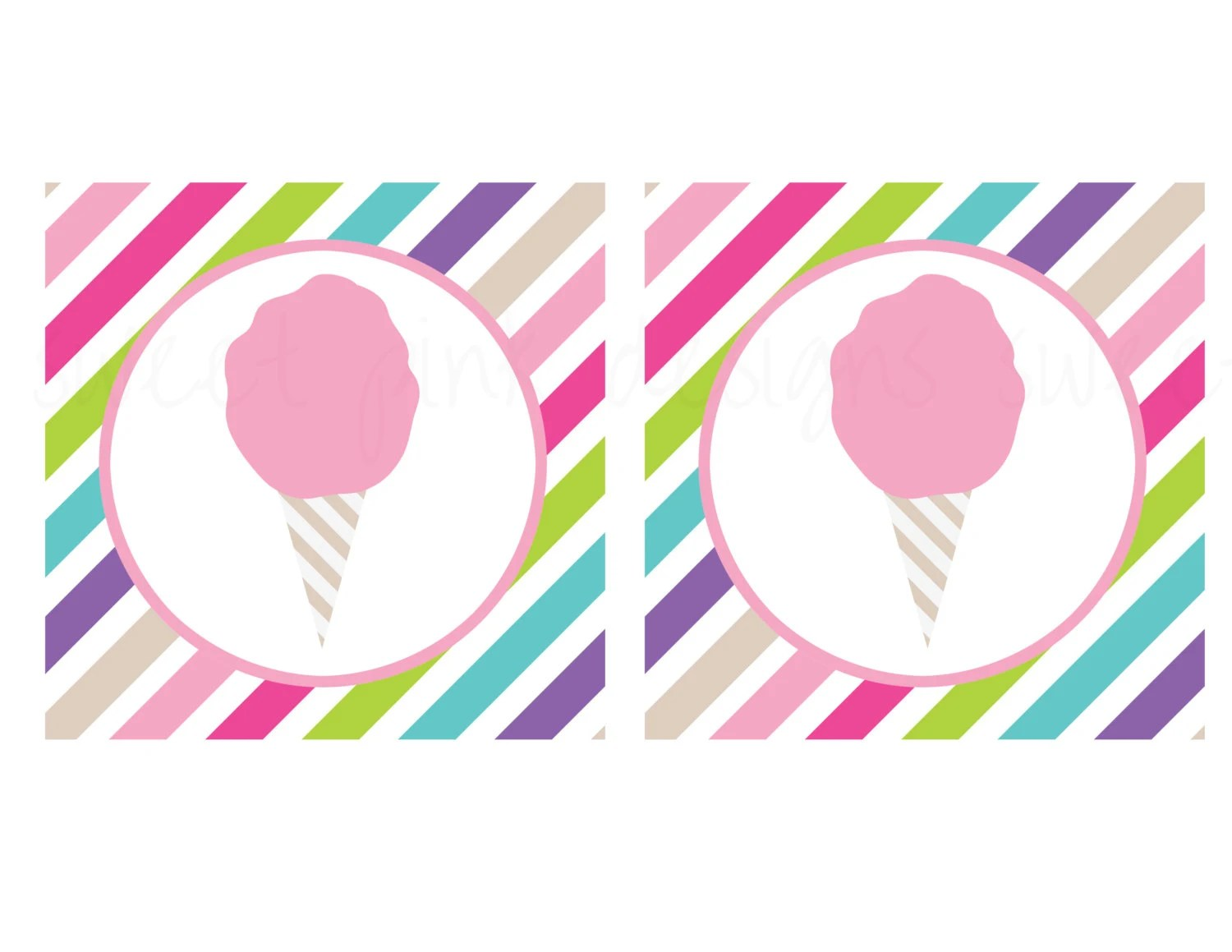 Cotton Candy Party Birthday Banner