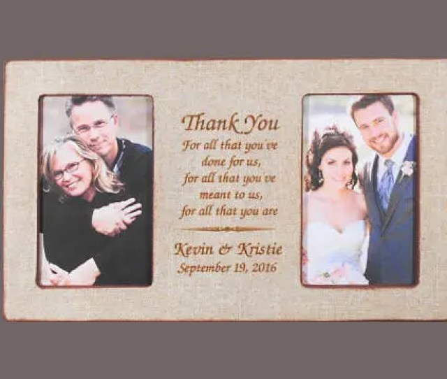 Wedding Gift Parents Personalized Wedding Gift Parents Bride Gift To Parents Custom Picture Frame Groom Gift Bride X