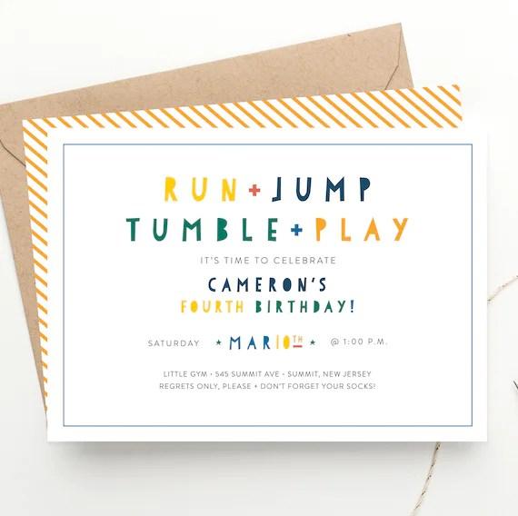 run jump tumble play kids party
