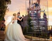 Custom Acrylic Wedding Program Sign Wedding Party Program Announcement Introduction Information Chart