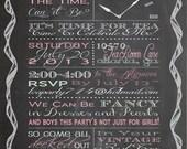 Shabby Chic Vintage Chalkboard Girls Tea Party Birthday Party Bridal or Baby Shower Wedding Invitation Digital Pink Blue