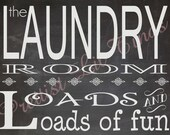 Shabby Chic Vintage Typography Chalkboard Laundry Room Sign Picture Wall Word Art Funny Phrases Modern Decor Decorations