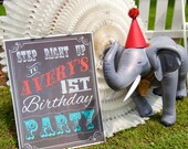 Vintage Carnival Circus Chalkboard Welcome Sign Birthday Party Bridal or Baby Shower Wedding Digital