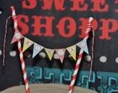 Carnival Circus Cake Banner Girl Boy Birthday Party Bridal Baby Shower Wedding Red Blue Yellow Printable Digital DIY