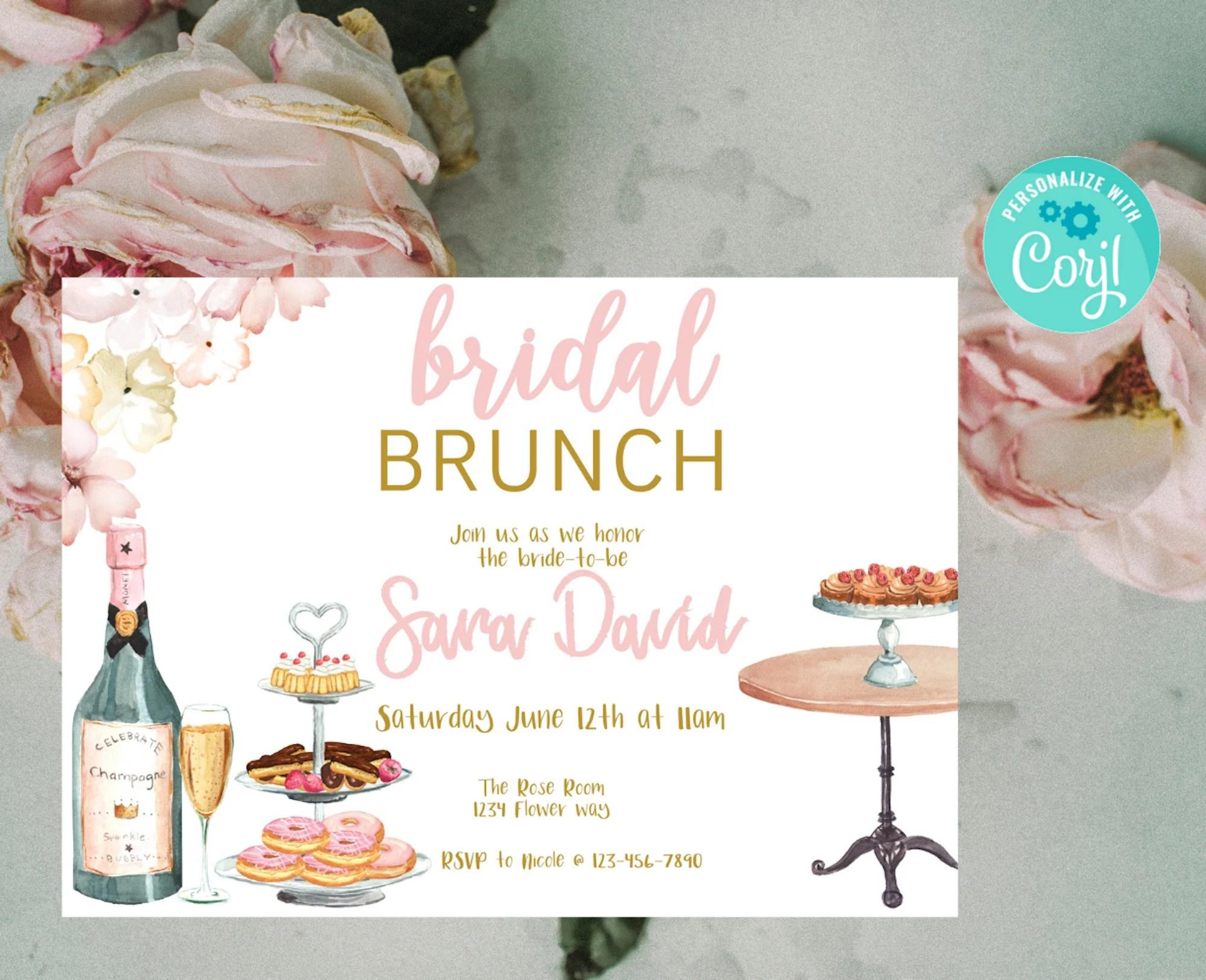 bridal brunch invitation brunch