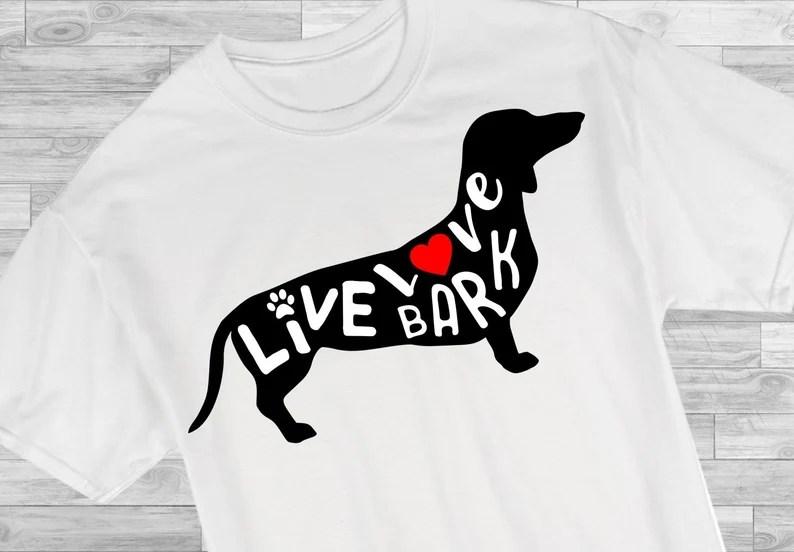 Download Dachshund svg Live Love Bark Weenie Dog Clip art Dog | Etsy