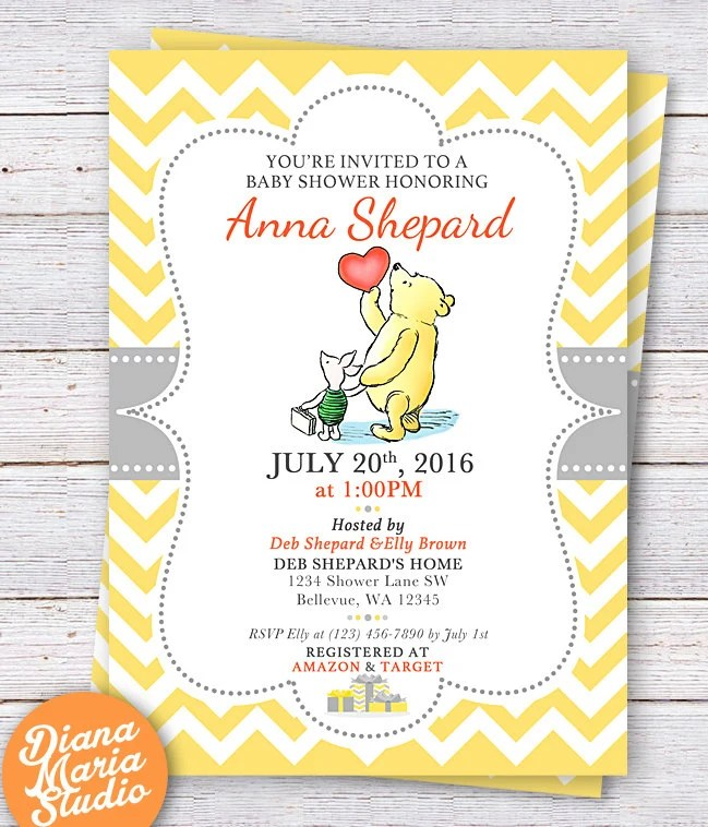 Pooh Baby Shower Invitation Wording