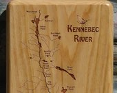 KENNEBEC RIVER MAP Fly Bo...