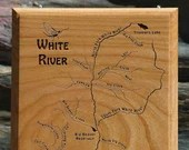 WHITE RIVER MAP Wall Plaq...