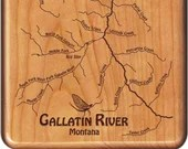 GALLATIN  RIVER Map Fly F...