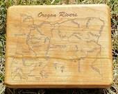 OREGON RIVERS Map Fly Box...