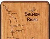 SALMON  RIVER Map Fly Fis...