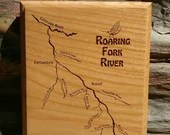 ROARING FORK River Map Wa...