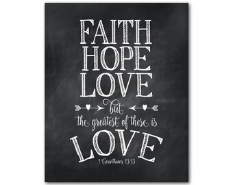 Download Faith Hope & Love But The Greatest of These is Love SVG Cut
