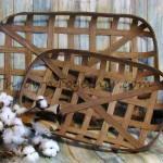 Tobacco Baskets Farmhouse Baskets Handmade Tobacco Baskets Gallery Wall Basket Rustic Home Decor Decorative Basket Set