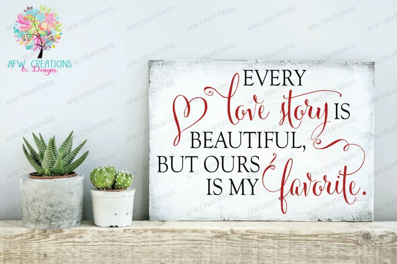 Download Digital Cut File Every Love Story is Beautiful SVG DXF | Etsy