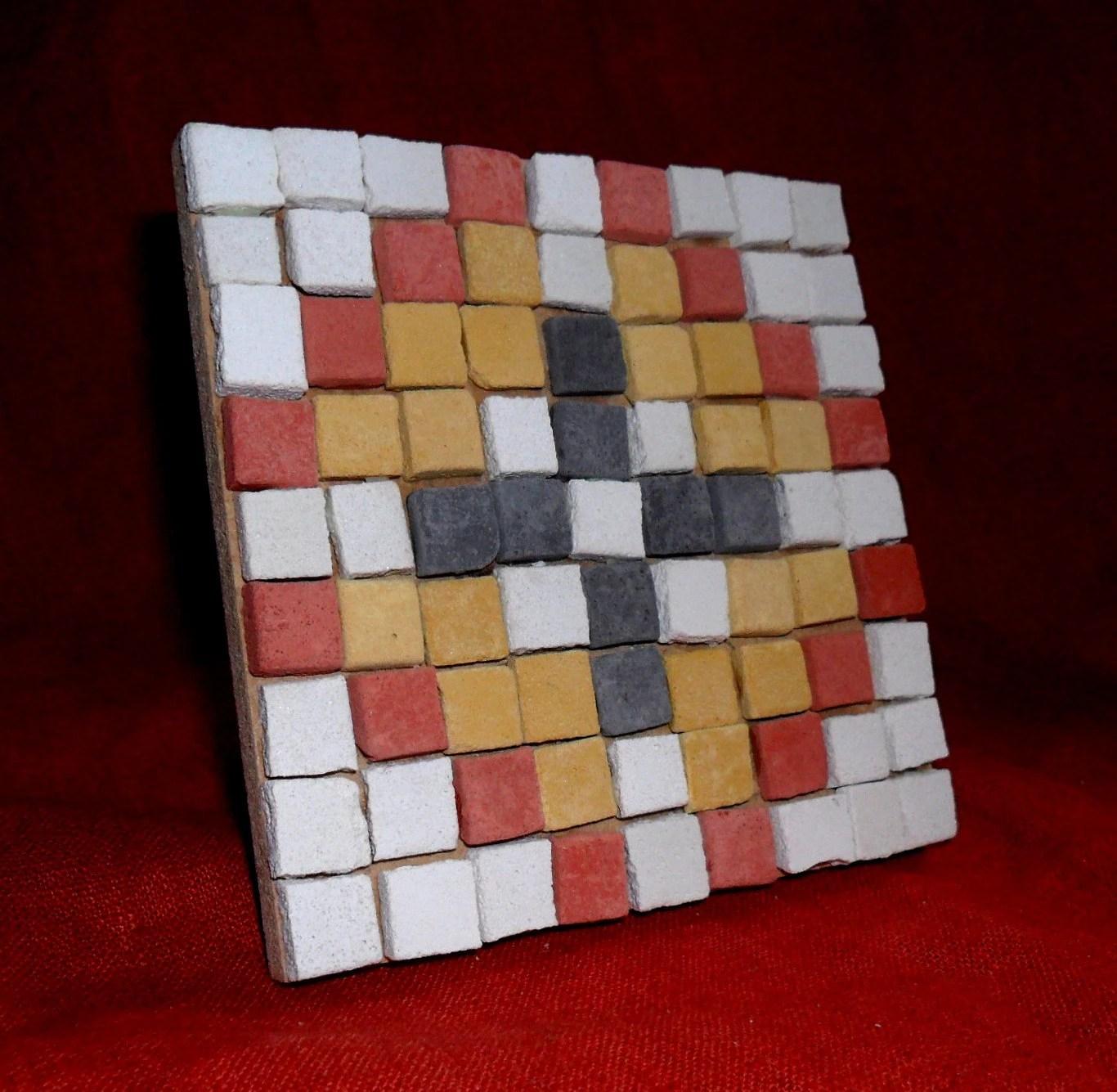 Children S Ks2 Roman Mosaic Kit Four Geometric Flowers