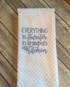 White Waffle Weave Embroidered Kitchen Towel Everything Etsy
