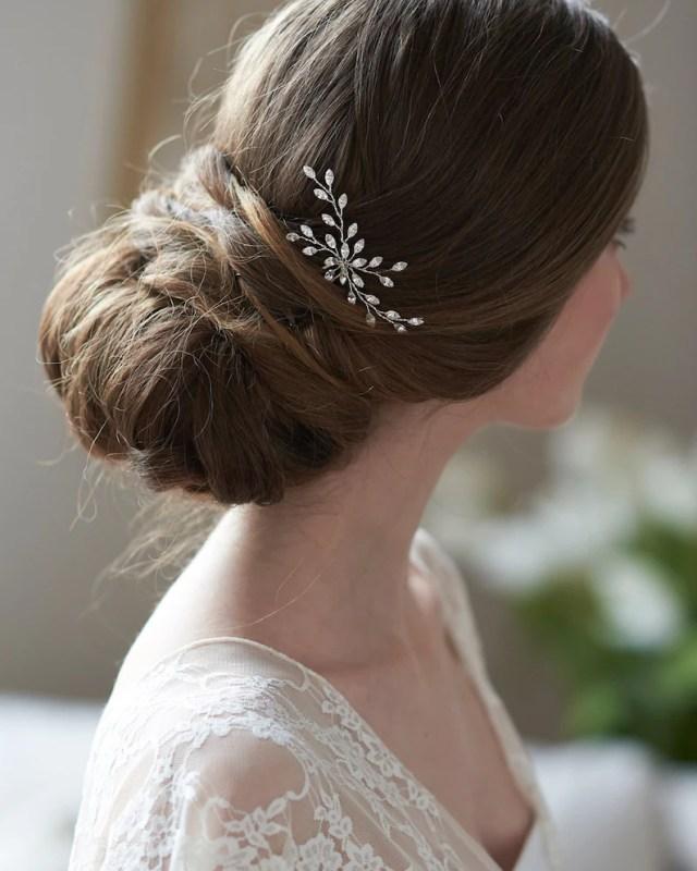 bridal hair pins, wedding hair pins, silver bridal hair pins, crystal hair pins, crystal wedding hair pins, bridal hair pin ~ tp-2844
