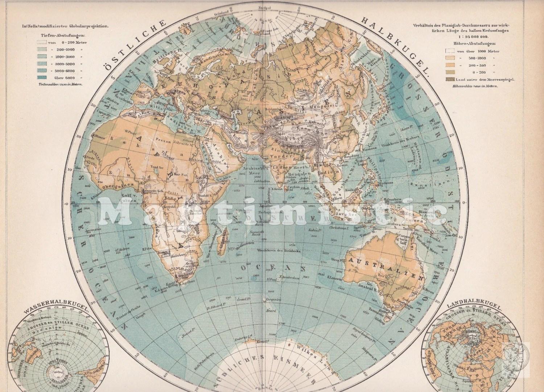 Eastern Hemisphere Of The Globe Earth Africa Europe