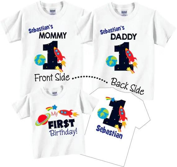 3 Shirt Set Birthday Shirt Set For Birthday Boy Mom And Dad Etsy