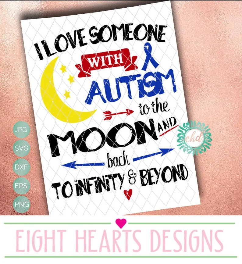 Download SVG Design I love someone with Autism Svg png eps dxf   Etsy